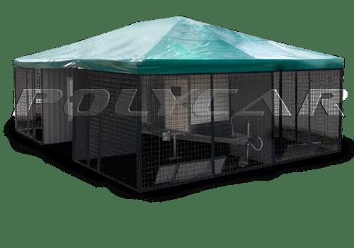Прицеп для перевозки собак производства Polycar.