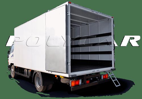 Промтоварные фургоны поликар вариант стандарт.