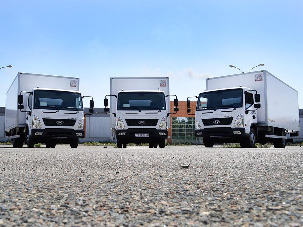 Партия рефрижераторных фургонов, выполненных на базе Hyundai EX8.