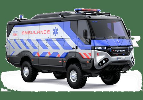 Медицинская версия полноприводного автобуса Torsus.