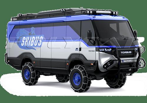 Torsus Praetorian версия полноприводного автобуса для лыжного спорта.
