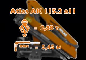 Кран-манипулятор Atlas 115.2 производитель Германия.