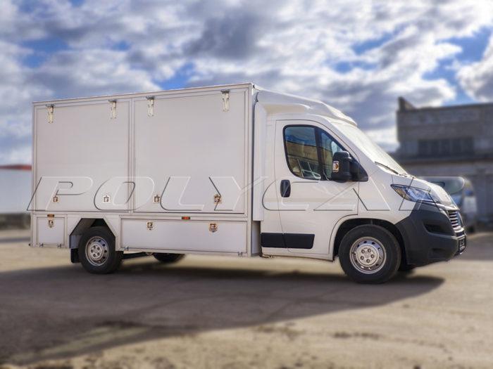 Демонстрационный фургон на Peugeot Boxer, выполненный для компании Bosch.