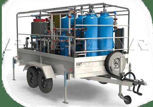 Водоотчистная система на базе прицепа.