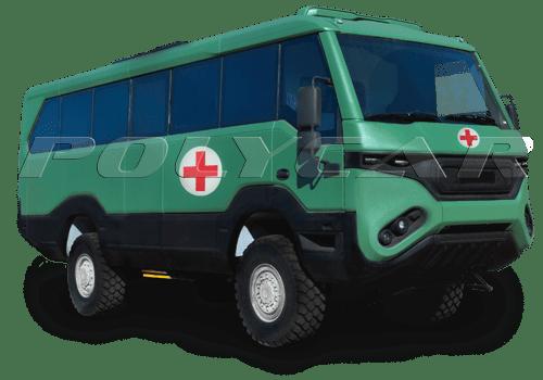 Медицинский эвакуационный автобус Torsus Praetorian.