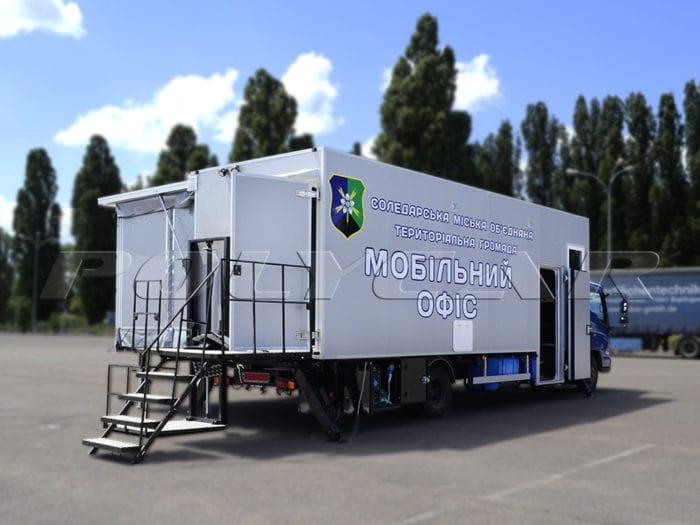Мобильный передвижной офис производства Polycar.