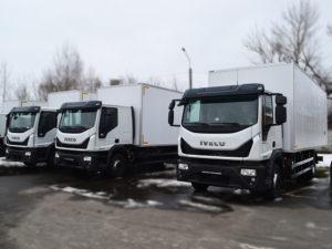 Промтоварные фургоны на автомобилях Iveco.