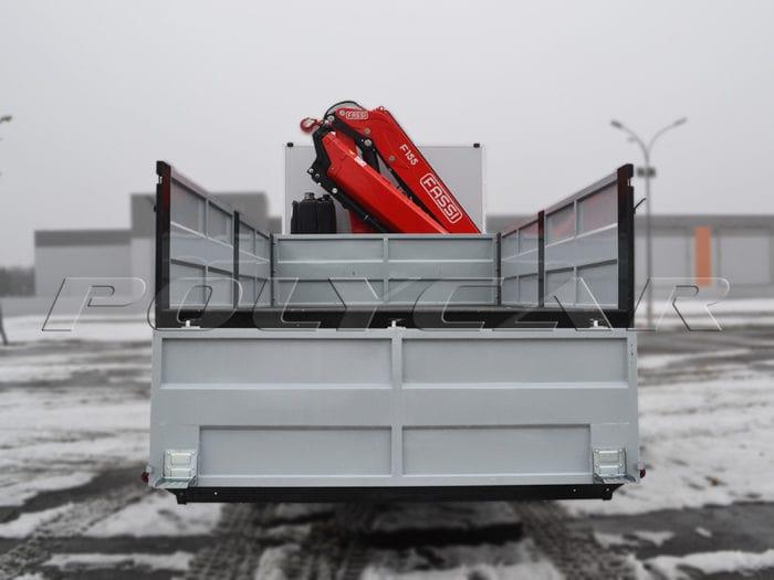 КРАЗ 63221-05 с бортовой платформой Polycar и краном-манипулятором.