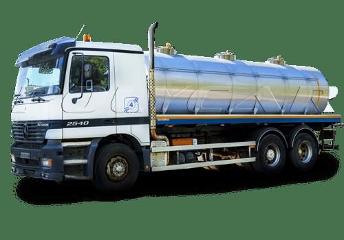 Цистерна для перевозки пищевых жидкостей, выполненная в Polycar на базе Mercedes.