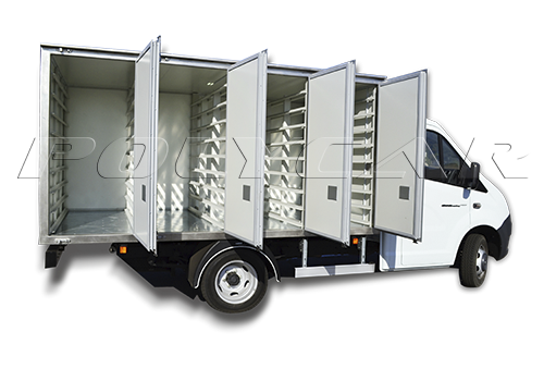 Хлебовозка ГАЗель с хлебным фургоном производства Polycar.