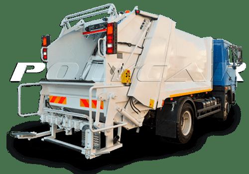 Мусоровозы или мусорные машины производства Polycar.