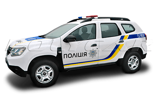 Патрульный автомобиль на базе Renault Duster.