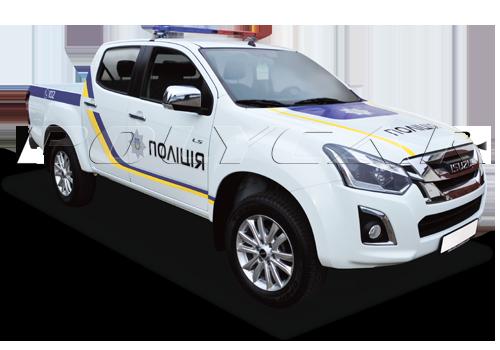 Патрульний автомобіль Поліції на базі Isuzu D-max.