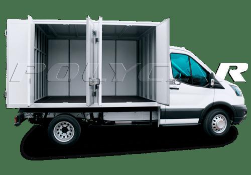 Ford Transit с промтоварным фургоном.