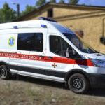 Машина скорой помощи, выполненная Поликар на базе Ford Transit.