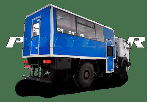 Вахтовые автобусы поликар, различные варианты вахтовок.
