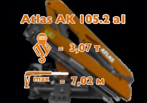 Atlas 105.2 a1 КМУ с грузоподъемностью до 3 тонн.
