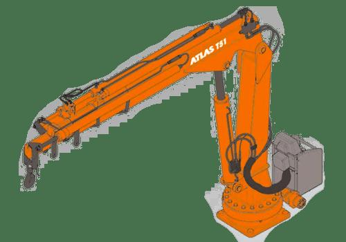 Манипулятор Atlas T51 с грузоподъемностью до 2,9 тонн.