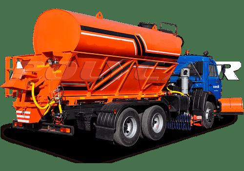 Комбинированная машина для уборки дорог производства Polycar.