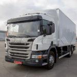 Промтоварный фургон на Scania.