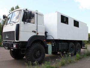 Мобильная мастерская на базе МАЗ.