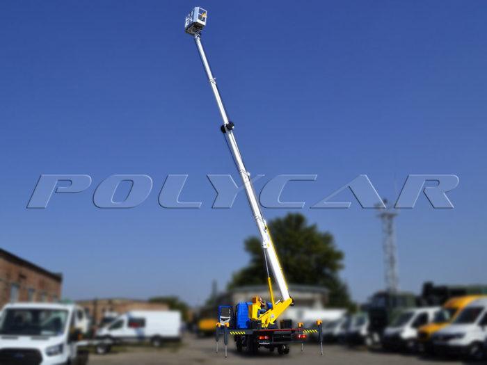 МАЗ с автовышкой высотой 28 метров.