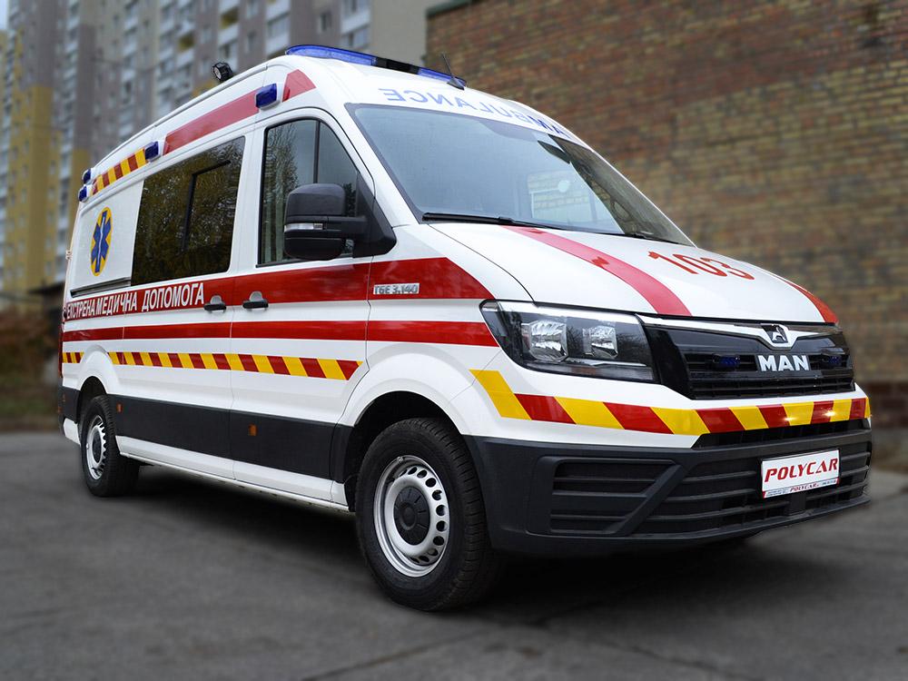 Впервые в Украине — автомобиль скорой помощи на базе MAN TGE.