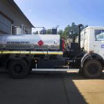 Автоцистерна для перевозки нефти и газа на базе МАЗ.