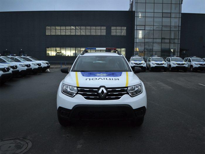 Патрульный автомобиль полиции Украины на базе Renault Duster.