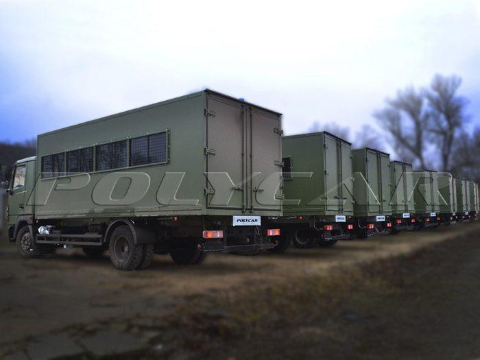 Партия вахтовых автобусов, выполненных на базе МАЗ 4371.