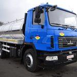Цистерна для пищевых жидкостей объемом 10 куб. метров на базе МАЗ.