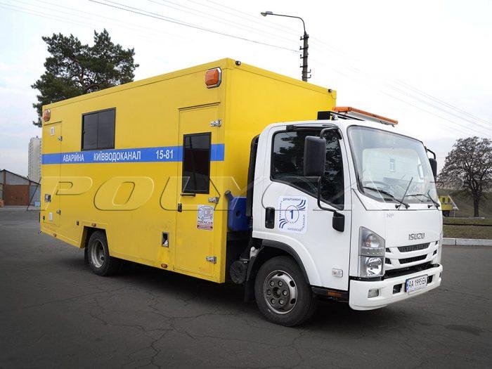 Аварийно-восстановительная машина на базе Isuzu NPR 75.