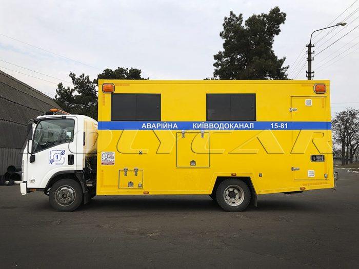 Машина аварийной службы Киевводоканала.