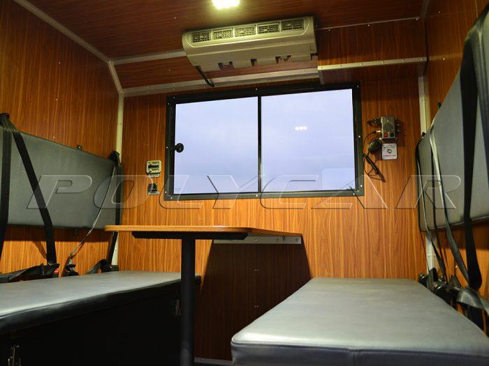 Пассажирский отсек мастерской на МАЗ 5316F5.