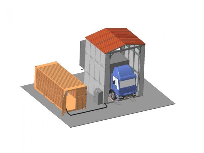 Пункты для проведения дезинфекции транспорта.