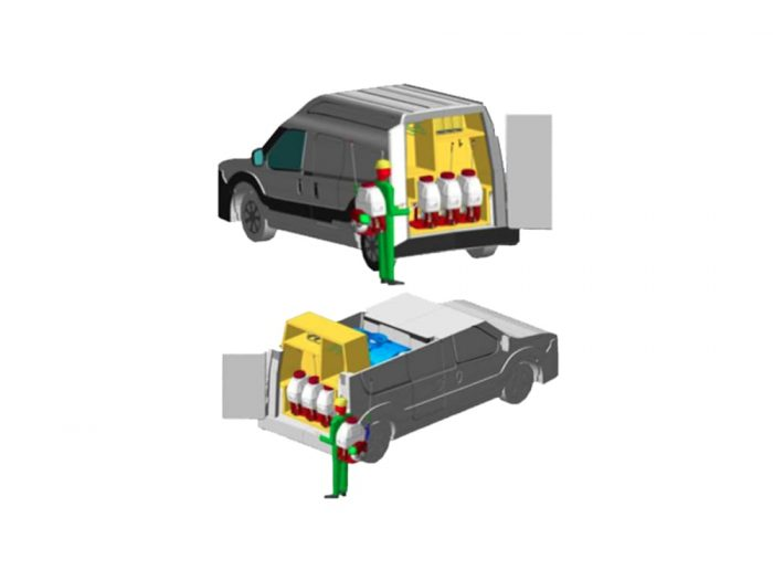 Автомобиль для дезинфекции производства Polycar.