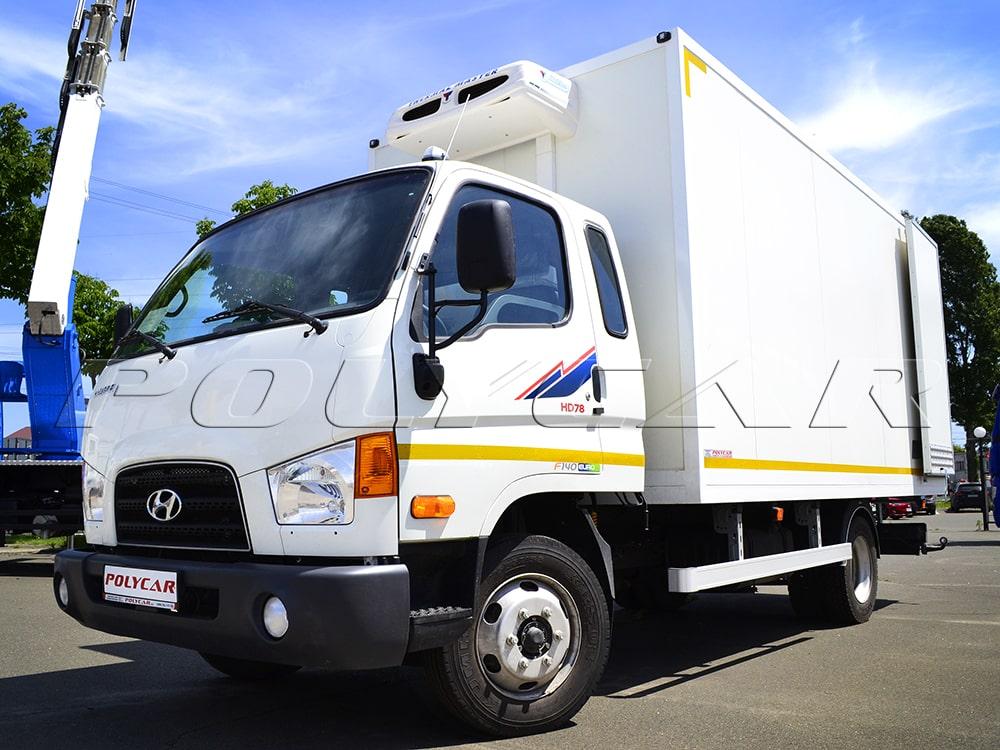 Рефрижераторный фургон и холодильное оборудование на Hyundai HD78.
