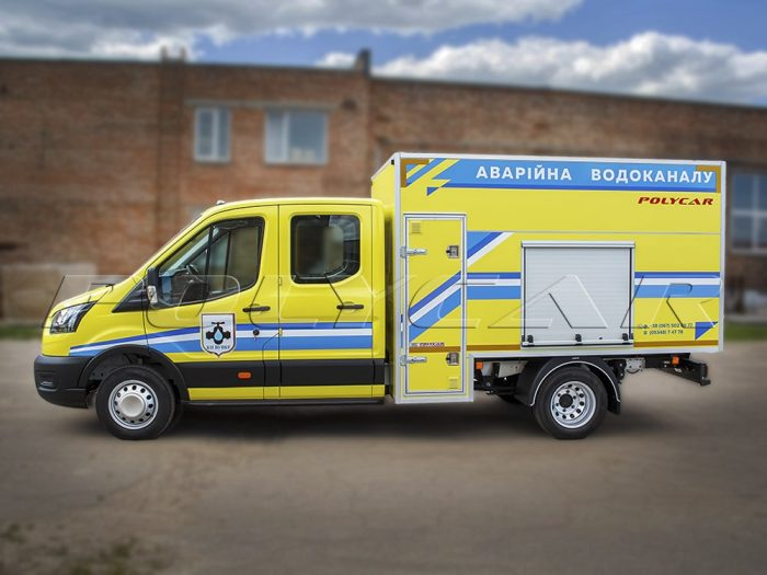 Машина аварийно-ремонтной бригады водоканала на базе Ford Transit.