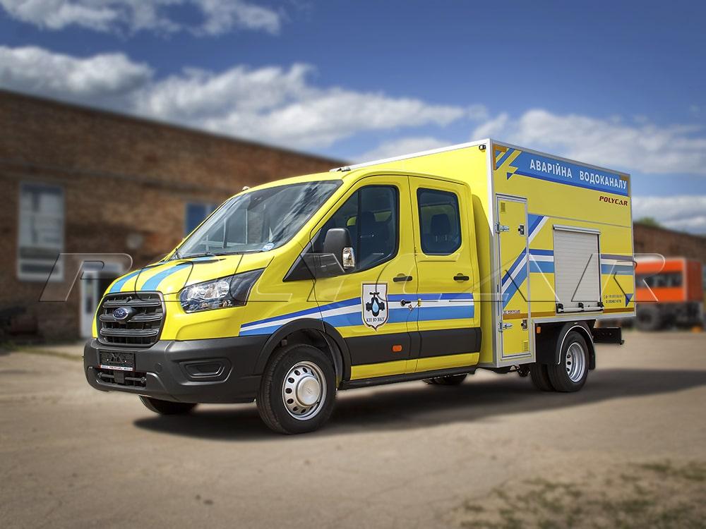 Аварійно-відновлювальна машина на базі Ford Transit Double Cab.