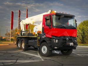 Автовышка Paksan KTF325 на Renault Trucks K430.