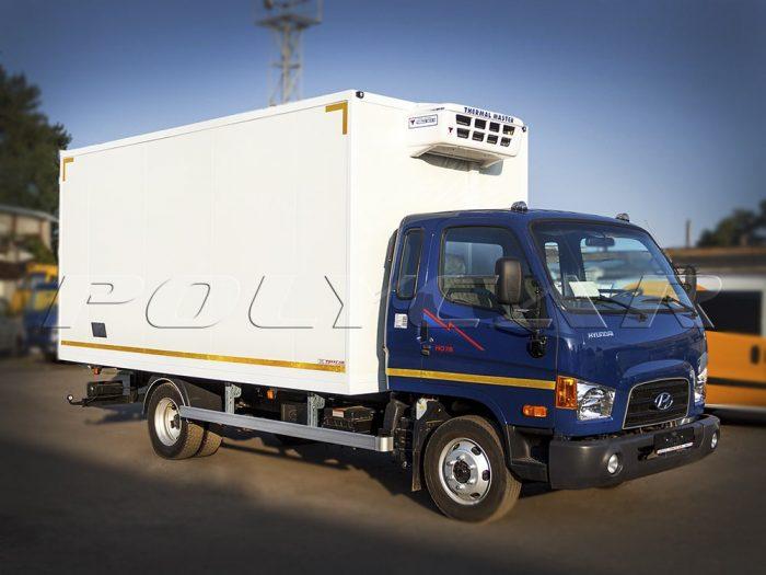 Hyundai HD78 с рефрижераторным фургоном Polycar.