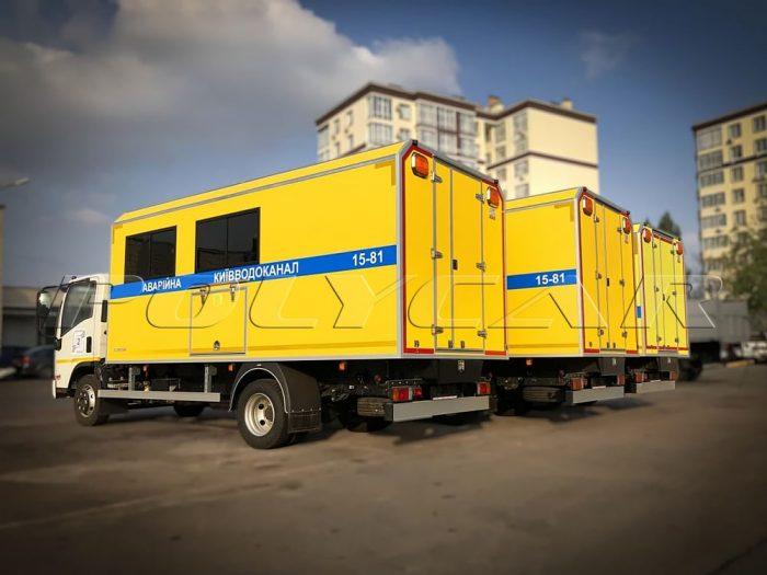 Партия аварийно-восстановительных машин на базе Isuzu NPR 75.