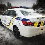 Патрульный автомобиль полиции на базе Peugeot 301.