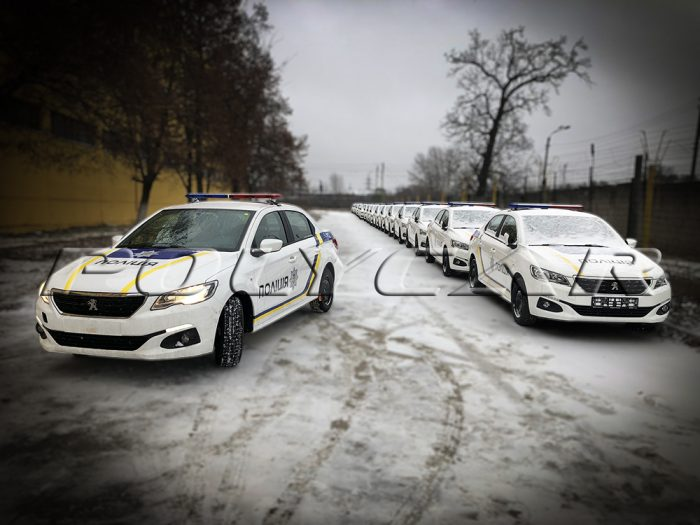 Партия патрульных автомобилей Национальной полиции Украины на базе Peugeot 301.