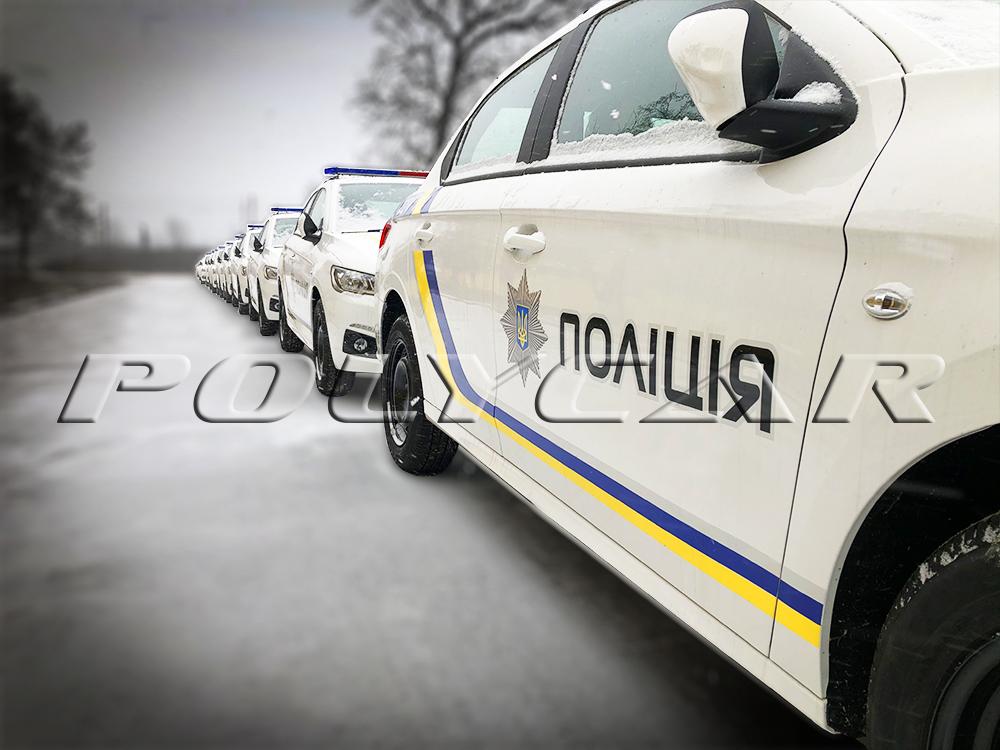Партія патрульних автомобілів поліції на базі Peugeot 301.