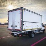 Ford Transit з промтоварним фургоном виробництва Polycar.