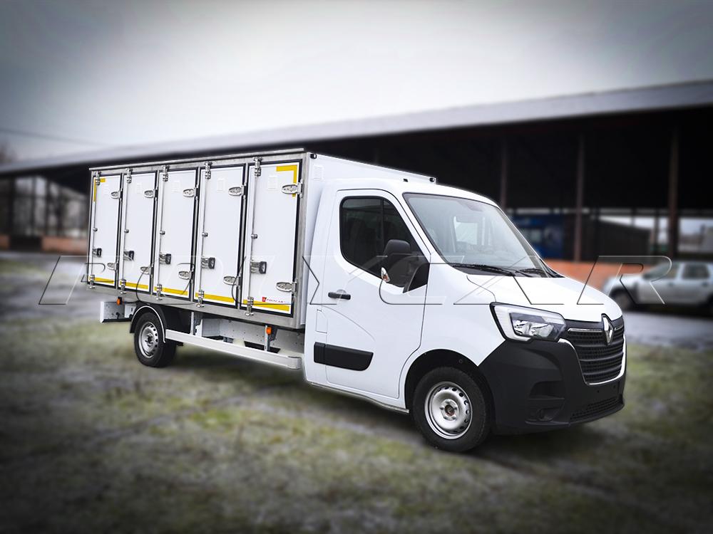 Партія Renault Master з фургонами для перевезення хлібобулочних виробів.