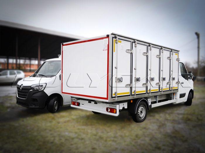 Фургоны для перевозки хлеба на 96 и 120 лотков производства Polycar.