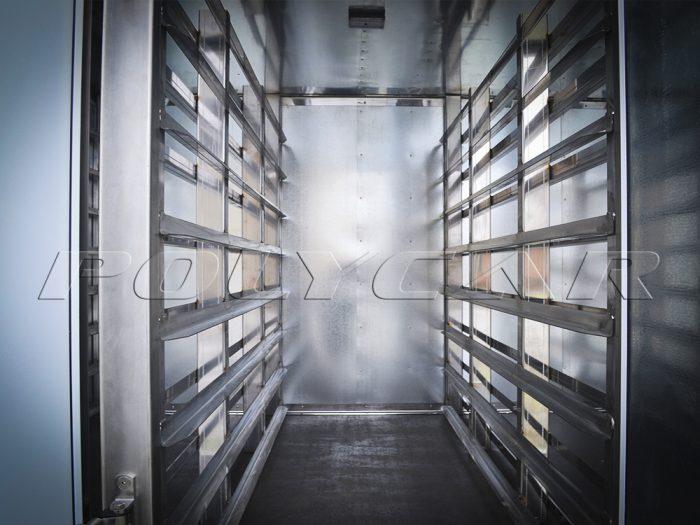 Направляющие в хлебном фургоне.