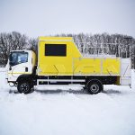 Автомобиль Киевводоканала для проведения реагентных работ на базе Isuzu.